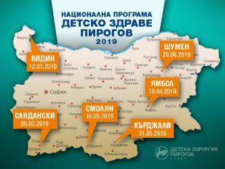 Национална програма детско здраве Пирогов, Програма до средата на 2019 г.